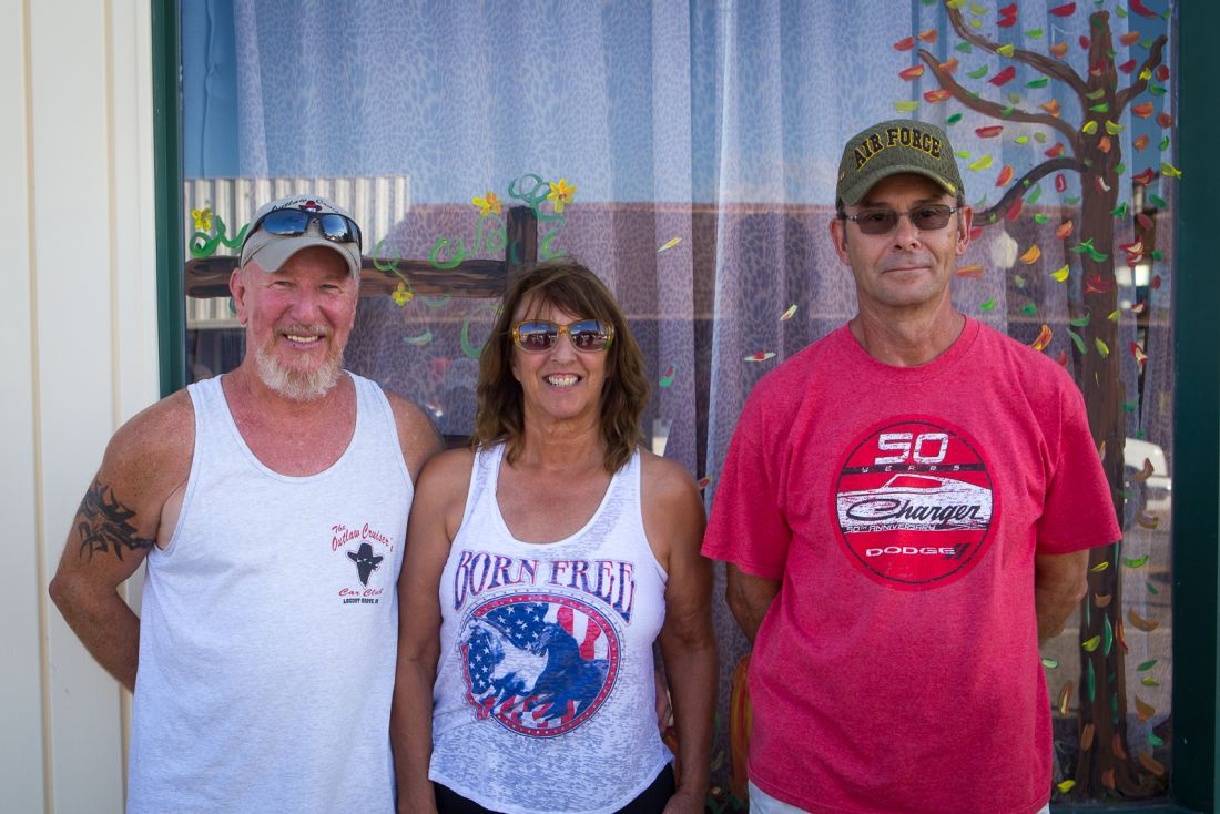 Car Show Winners (left to right) Harl Harvey 3rd Place, Cindy Harvey 2nd Place, Richard Johnson 1st Place